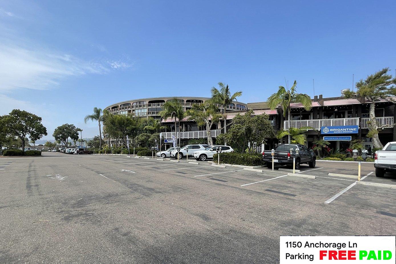 Parking lot for pedal boat rentals